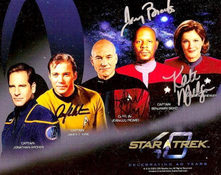 Star Trek 40th Autographed by cyberzing432