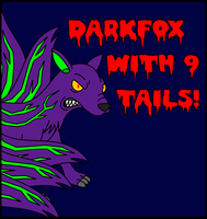 Gift: Darkfox with 9 tails by Antooniverse