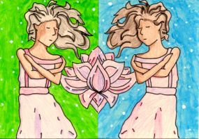 Aceo: Lily and Anya by Notebook-Queen