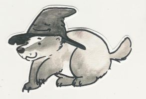 Badger in the Sorting Hat by Denniah