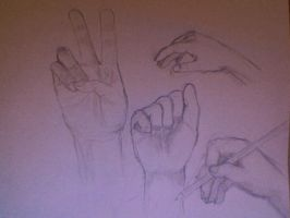 Hand sketches 1 by PetalPink123