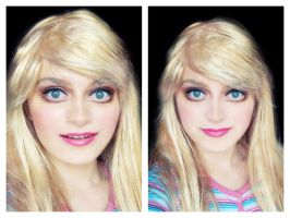 Barbie make-up transformation by L-Justine