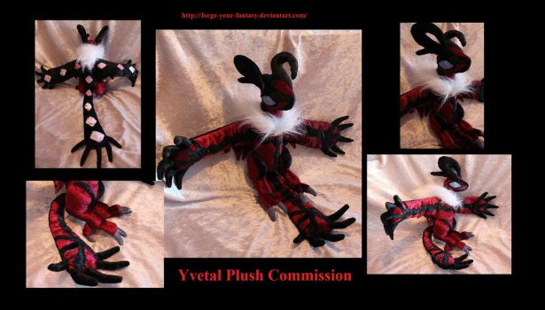 Yvetal Plush Commission - Pokemon X and Y by Forge-Your-Fantasy