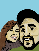 Me and my wife tooned up by stillestilo