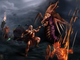 The Barbarian meets the Zerg by Rafik Emil H. by rafikemil