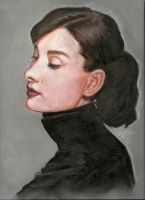 Audrey Hepburn by Pevansy