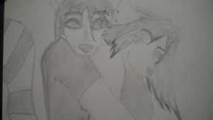 My anthro couple :l by bowserboy2