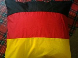 Germany's flag pillow by girlnephilim90
