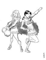 Casey And Zoe Gots Spirit by Supajoe