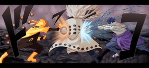 Naruto 674 - Naruto and Sasuke attack by pollo1567