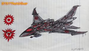 Sci-Fi Fighter Drawing 2 by B737TheAirliner