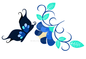Commission Cutie Mark  Blue Butterfly by DelLyra