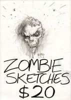 Zombie Sketches $20 by FlowComa