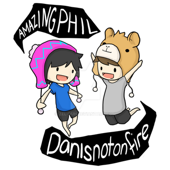 AmazingPhil and Danisnotonfire T-Shirt Design by Zel-Duh