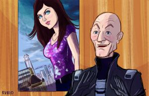 Professor X and Annabeth Chase by BobbyRubio