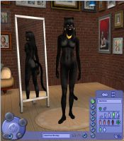 Sims Furry- Jasmine Panther by Dinalfos5