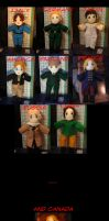 APH Plushies - Axis and Allies by Darling-Poe