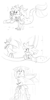 Little Mermaid Sonamy Redo kinda... by Mitzy-Chan