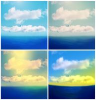 Water-Sky Backgrounds by allison731