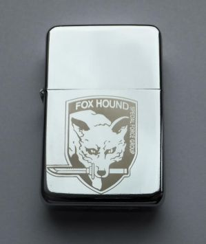 METAL GEAR SOLID  - engraved lighter by Piciuu
