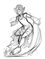 Comm sketch: Faun girl by Turtle-Arts