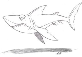 Great White Shark by Phycosmiley