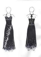 Prom Dress Design by Miyasolyneru