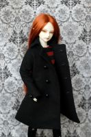 MSD Black Wool Coat by kawaiimon