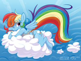 Rainbow Cloud by tvma34