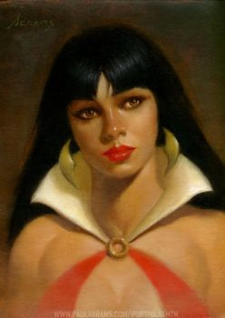 Vampirella Portrait by PaulAbrams
