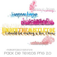Textos PNG 2.0 (Pack) by MariannaStayStrong13