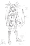 Daily Sketch 216: Ingrid model sheet by ReluctantZombie