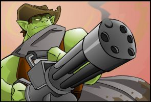Bustin' out the big guns by chief-orc