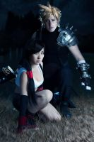 Tifa and Cloud from FF7 cosplay by mayuyu0405