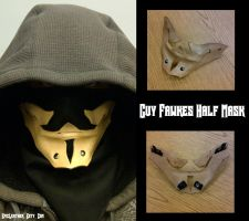 Leather Guy Fawkes Half Mask by Epic-Leather