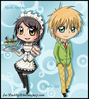chibi Misaki and Usui by Isi-Daddy