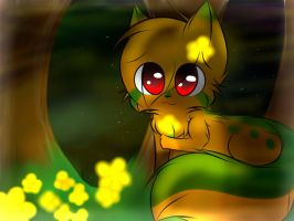 a glowing meadow ouo (contest entry) by Riku-Cat