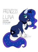 Princess Luna Cat Color by gato303co