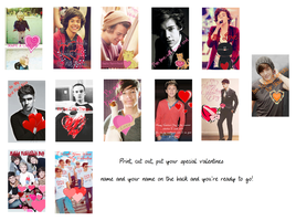 One Direction Valentines Day Cards 2 by iluvlouis