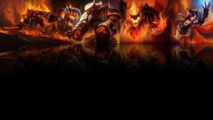 League of legends wallpaper - fire (black) by Desorienter