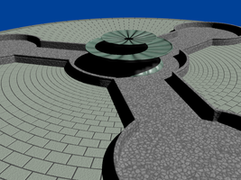 """Greek"" Fountain, WIP 1 by carlfoxmarten"