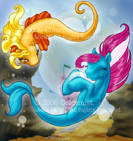 Seapony and Merpony by colormist