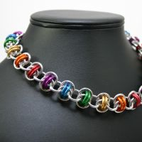 Rainbow Pride Barrels Necklace by Utopia-Armoury