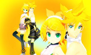 MMD Rin And Len Append by Aisuchuu