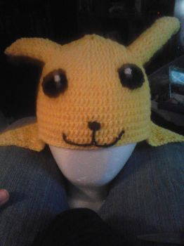 Pikachu Hat (with mouth) by AngelofMusik22