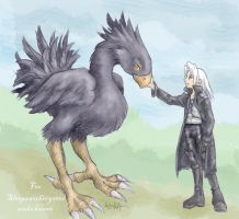 FF7 - Sephiroth and Draugr by askerian