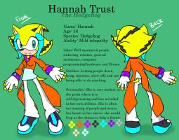 Hannah Ref Sheet by Fantailed-Hedgehog