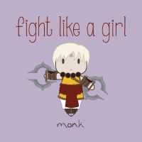 Monk - Fight Like A Girl by isasaldanha