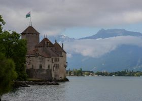 Castle on the Lake (Chillon Castle) by DavidKrigbaum