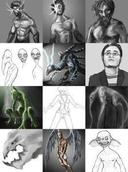 Unfinished Drawings by TheWhiteLight